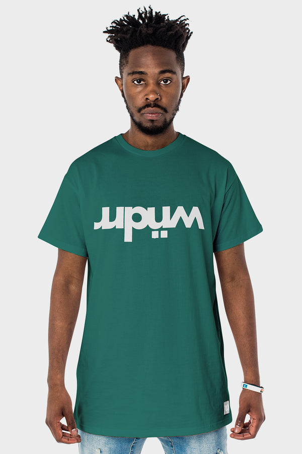OVERTURNED CUSTOM FIT TEE - FOREST GREEN