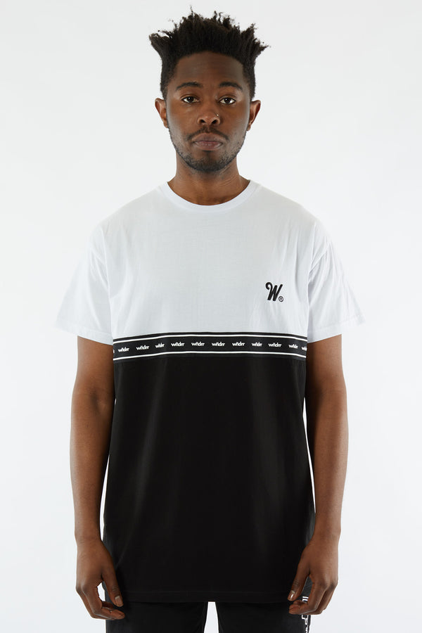 DIVERSITY PANEL CUSTOM FIT TEE - WHITE/BLACK