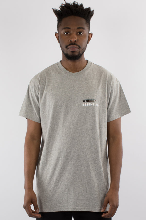 DISPERSE CUSTOM FIT TEE - GREY MARLE