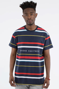 JORDAN VERT STRIPE CUSTOM FIT TEE - MULTI