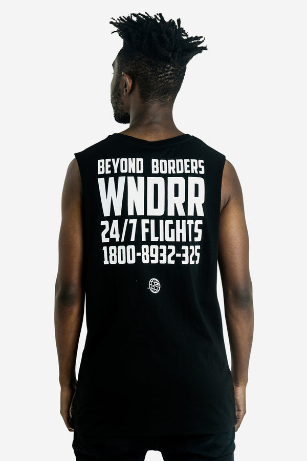 FLIGHTS MUSCLE TOP - BLACK