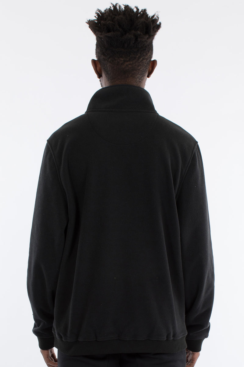 NOZAWA 1/2 ZIP POLAR FLEECE SWEAT - BLACK