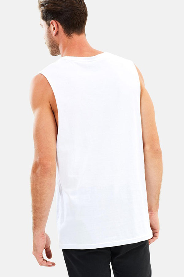 MANE MUSCLE TOP - WHITE