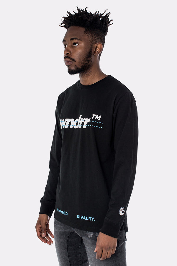 DISASSEMBLE LONG SLEEVE TEE - BLACK