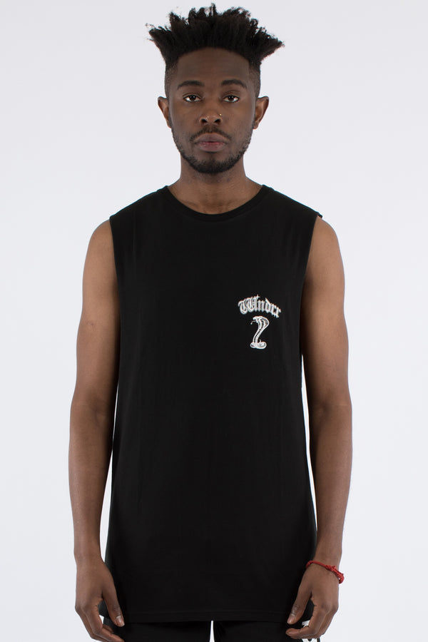 COBRA MUSCLE TOP - BLACK
