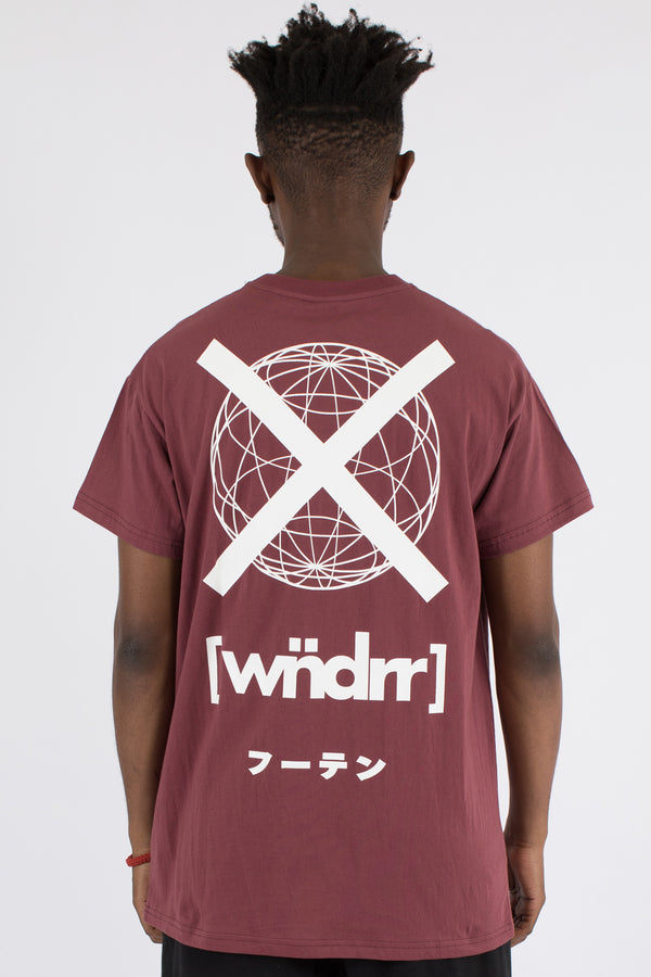 COMPOUND CUSTOM FIT TEE - BURGUNDY