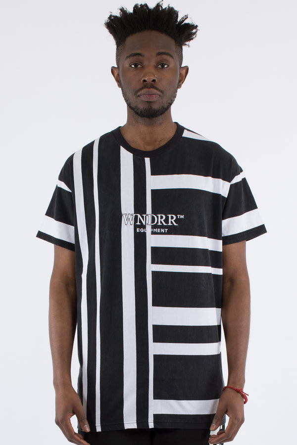 RIFT STRIPE TEE - BLACK/WHITE