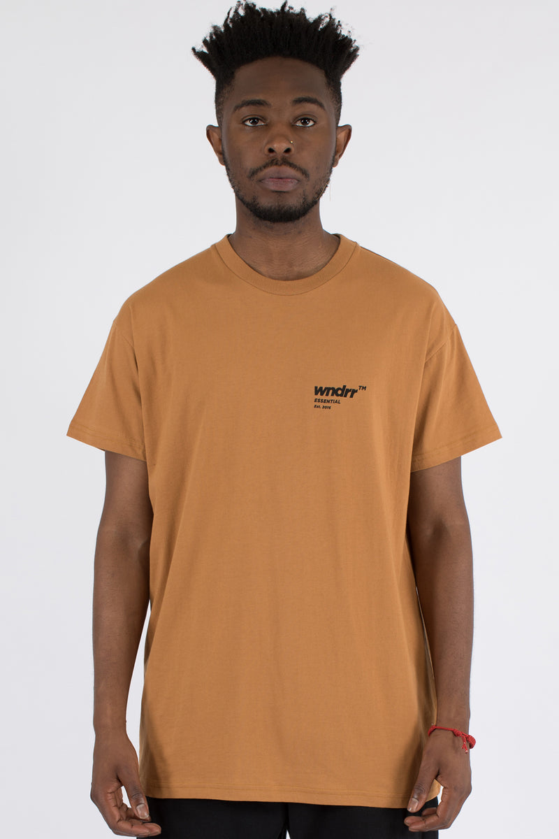 ADDRESS CUSTOM FIT TEE - ALMOND