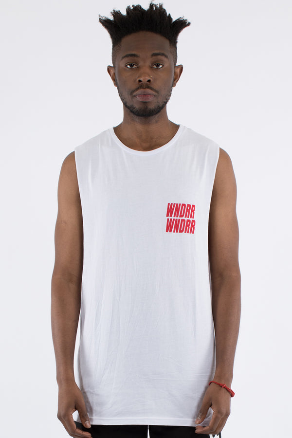 VANDALS MUSCLE TOP - WHITE