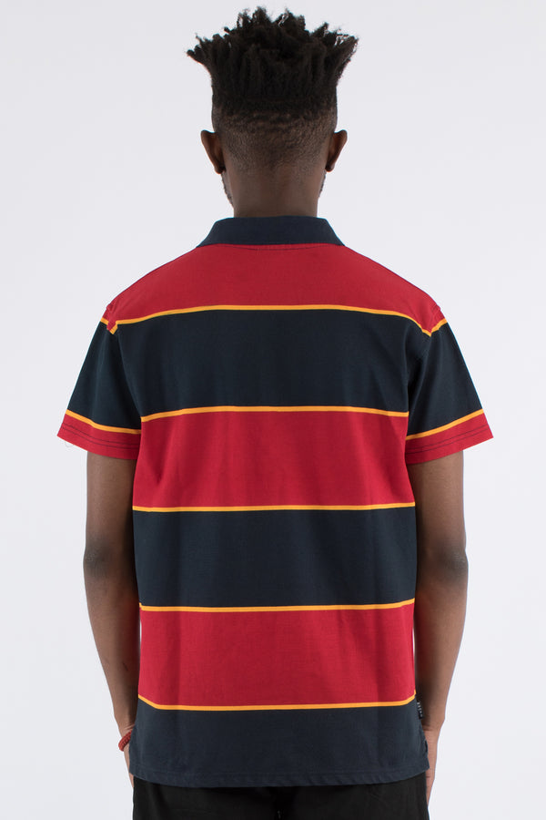 BAY SIDE STRIPE POLO TOP - MULTI