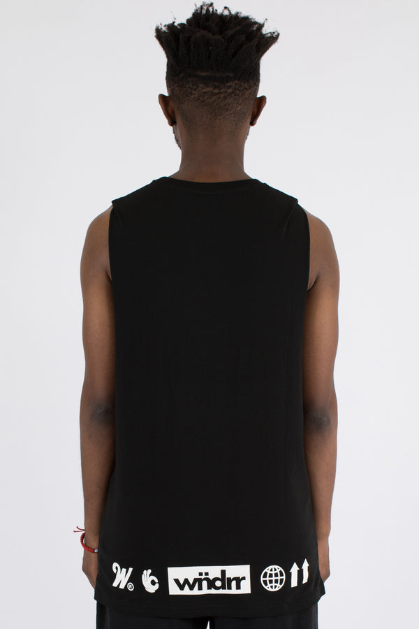 HAULER MUSCLE TOP - BLACK