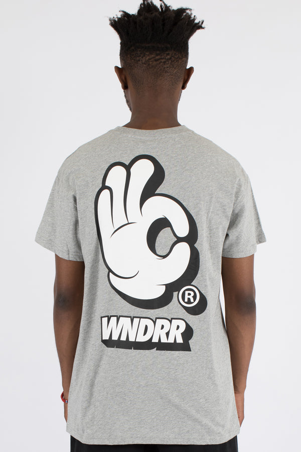 HANDLE CUSTOM FIT TEE - GREY MARLE