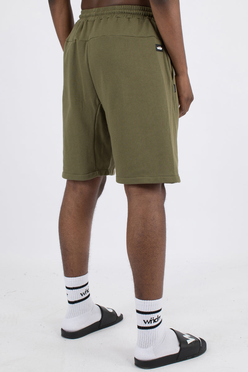 HOXTON TECH TRACK SHORT - ARMY GREEN