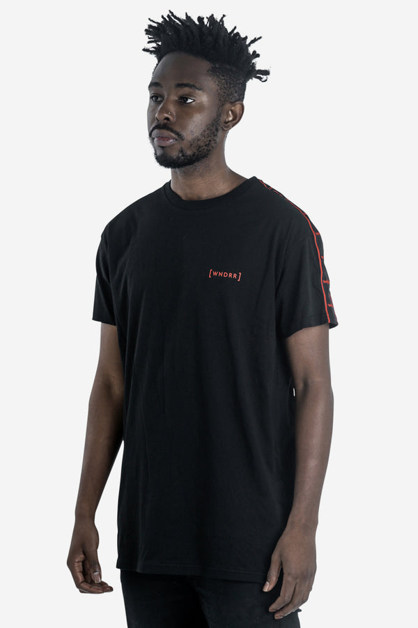 FUSION TAPING CUSTOM FIT TEE - BLACK
