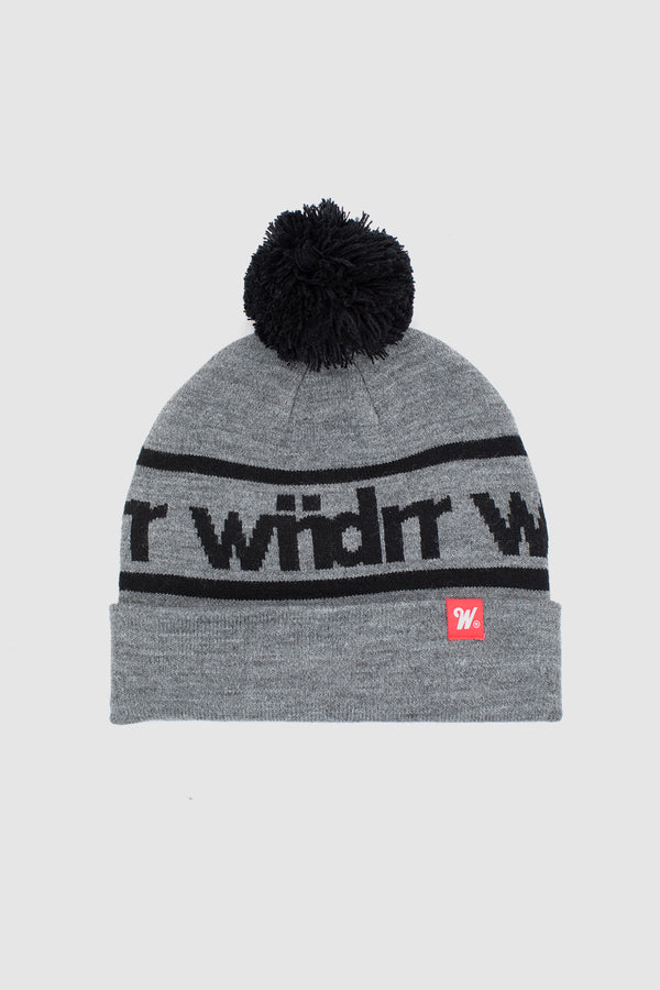 HARWOOD POM POM BEANIE - GREY/BLACK