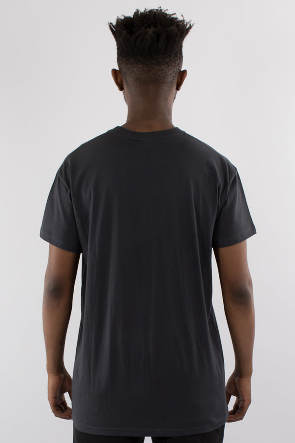 BLOCKED CUSTOM FIT TEE - BLACK