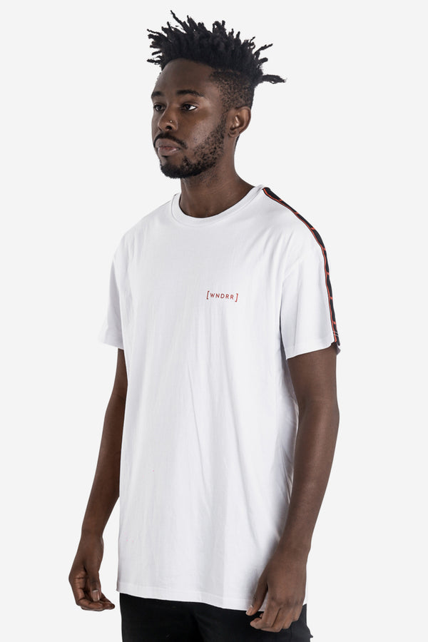 FUSION TAPING CUSTOM FIT TEE - WHITE