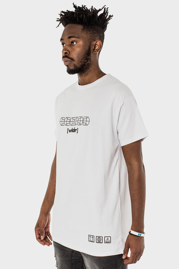 LOCKED DOWN CUSTOM FIT TEE - WHITE