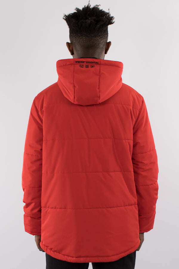 TEMPEST PUFFER JACKET - RED