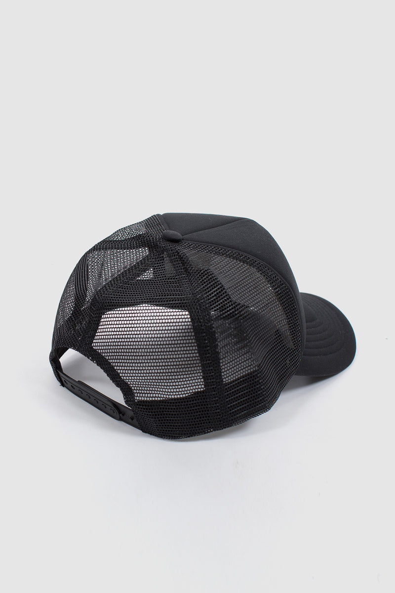 ACCENT TRUCKER CAP - BLACK