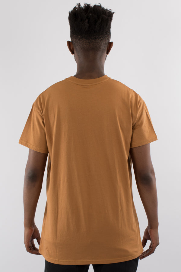 DEPARTURE CUSTOM FIT TEE - ALMOND