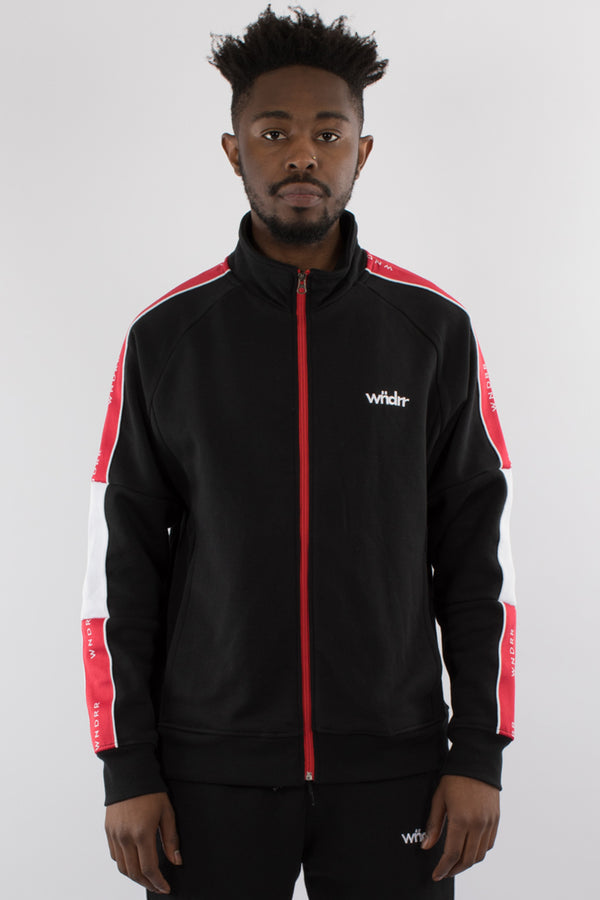 MARSHALL TECH TRACK JACKET - BLACK/RED/WHHITE