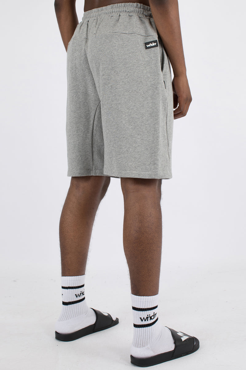 HOXTON TECH TRACK SHORT - GREY MARLE