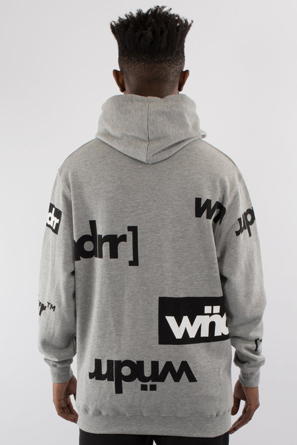 IDENTITY HOOD SWEAT - GREY MARLE