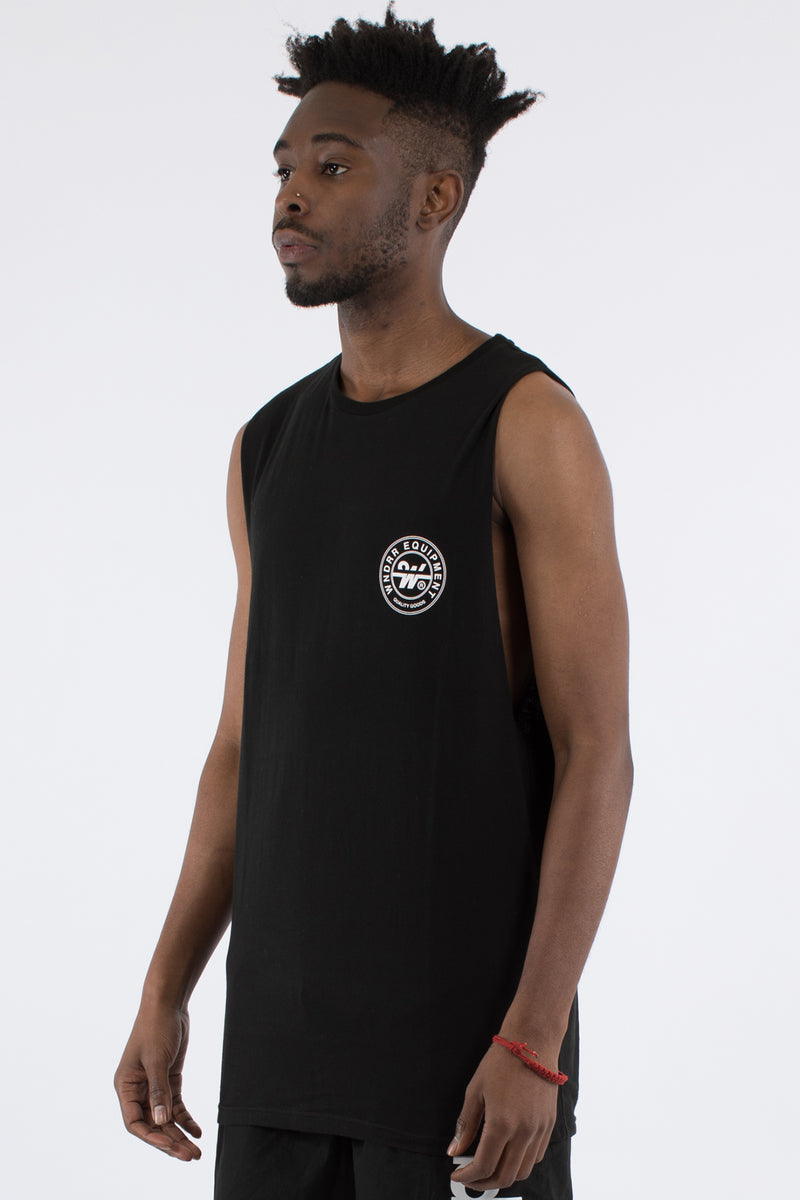 BANK MUSCLE TOP - BLACK
