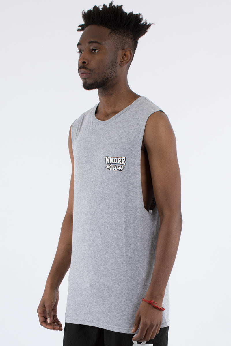 STRIKE MUSCLE TOP - GREY MARLE