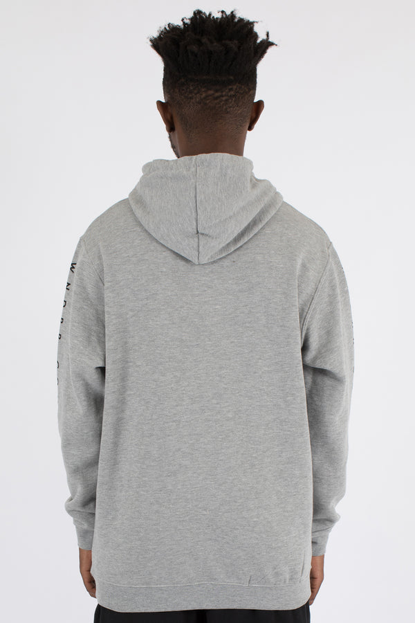 COVERT HOOD SWEAT - GREY MARLE