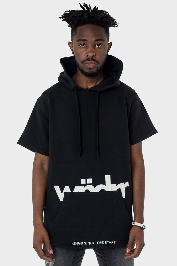 ASSASSIN S/S HOODED SWEAT - BLACK