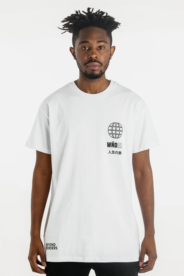 BORDERS CUSTOM FIT TEE - WHITE