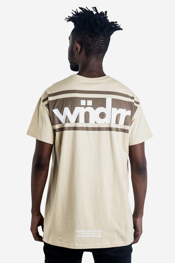 DIVIDE CUSTOM FIT TEE - TAN