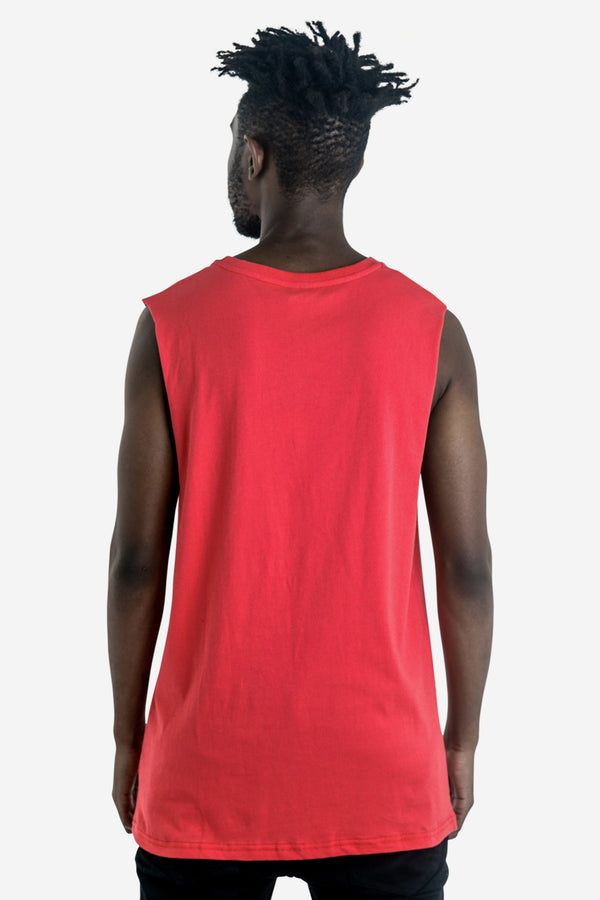 CAGED MUSCLE TOP - RED