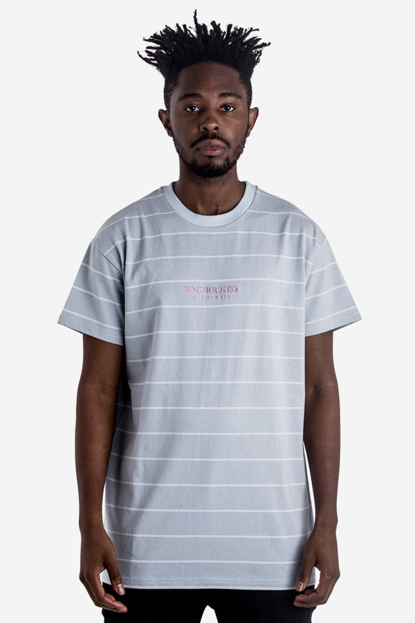 LIMITLESS STRIPE CUSTOM FIT TEE - CHALK BLUE/WHITE