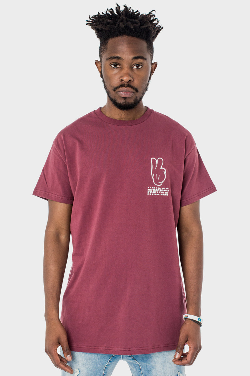 DEUCE CUSTOM FIT TEE - BURGUNDY