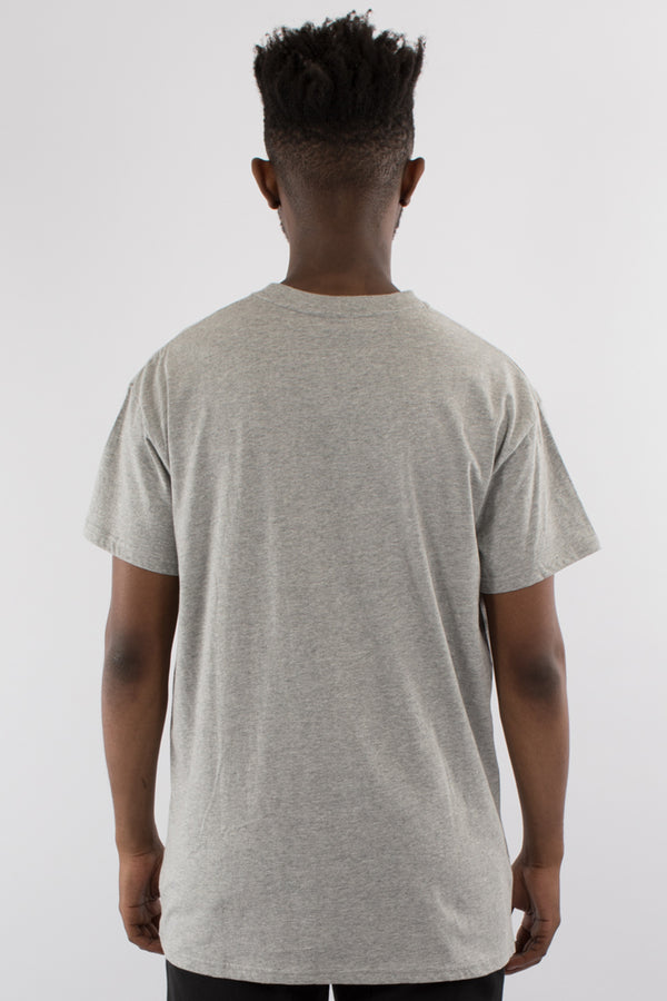 BLOCKED CUSTOM FIT TEE - GREY