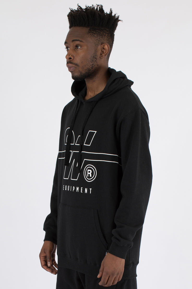 OVERTIME HOOD SWEAT - BLACK