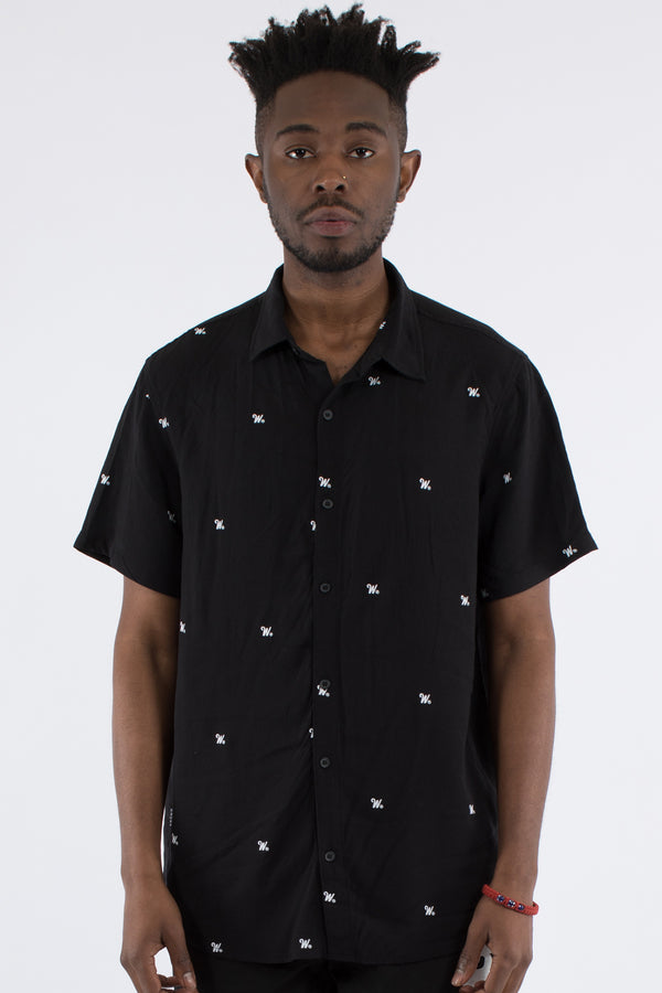 PHILLIPS PRINT S/S SHIRT - BLACK