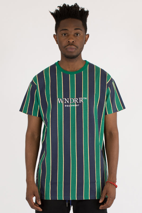 DEPUT VERT STRIPE CUSTOM FIT TEE - MULTI
