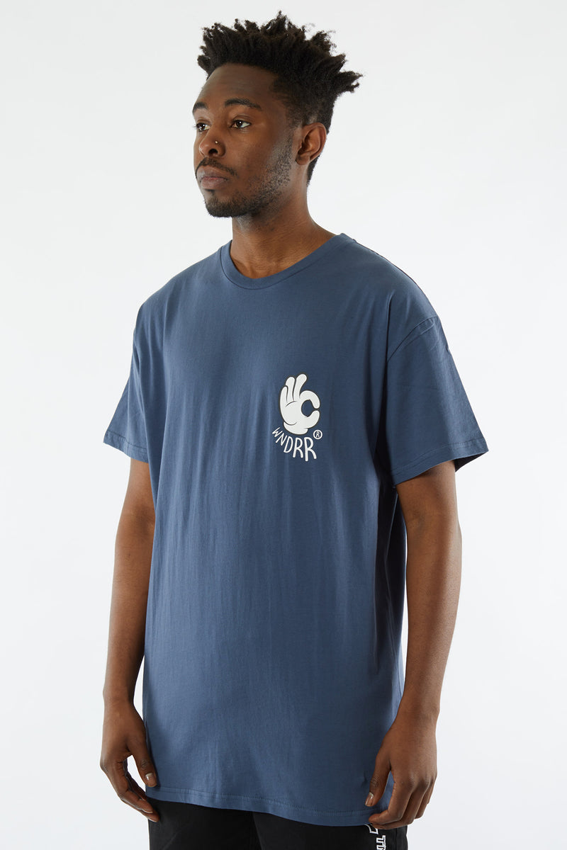 NIFTY CUSTOM FIT TEE - NAVY