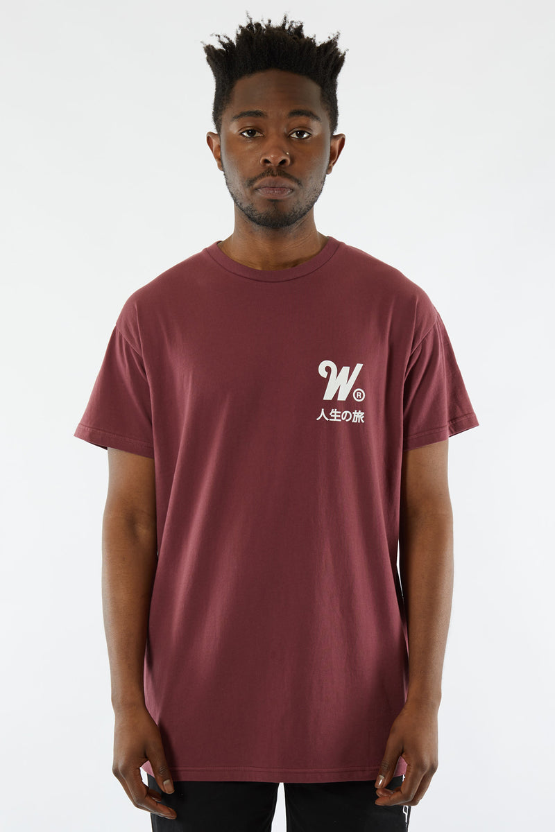 CAPITAL CUSTOM FIT TEE - BURGUNDY