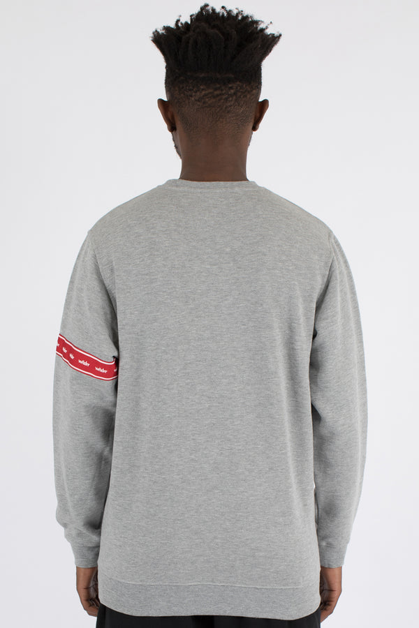 PHILLIPS CREW SWEAT - GREY MARLE