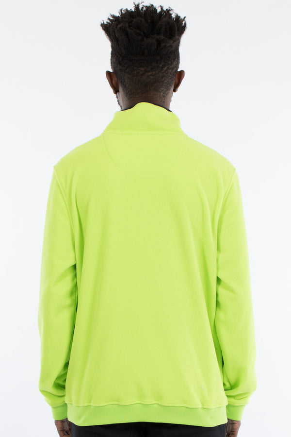 NOZAWA 1/2 ZIP POLAR FLEECE SWEAT - FLURO GREEN