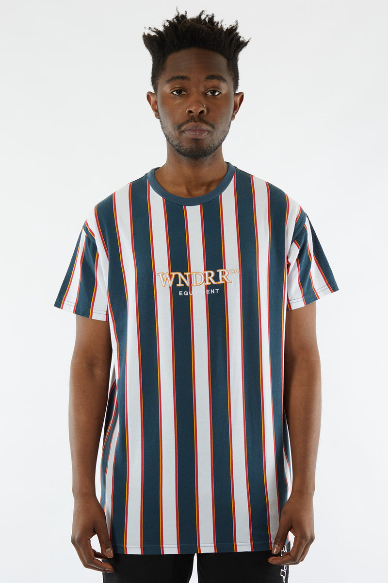 LETTER VERT STRIPE CUSTOM FIT TEE - MULTI