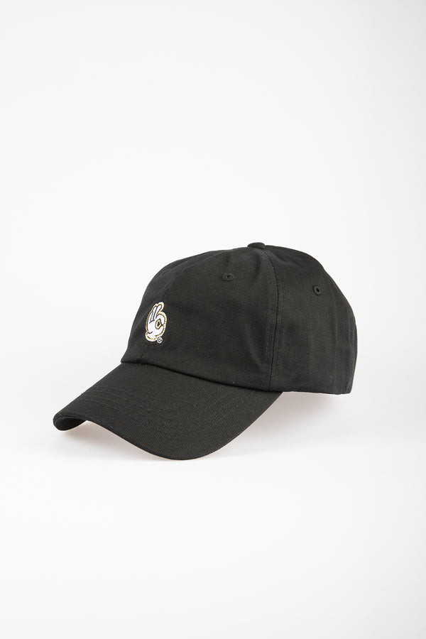 ALRIGHT 6 PANEL CAP - BLACK
