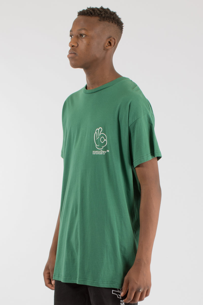 COOL CUSTOM FIT TEE - FOREST GREEN