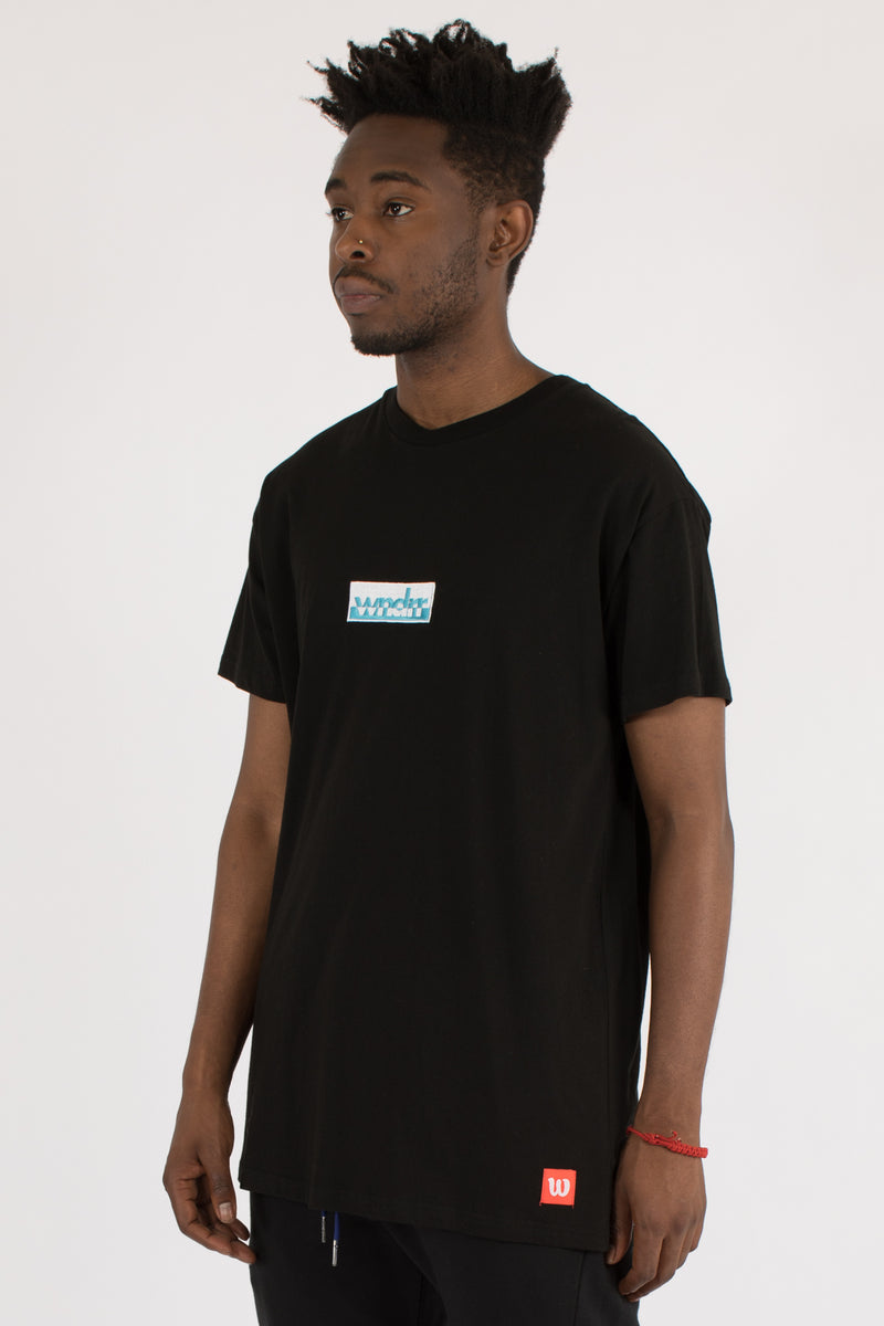 SIDE-LINE CUSTOM FIT TEE - BLACK