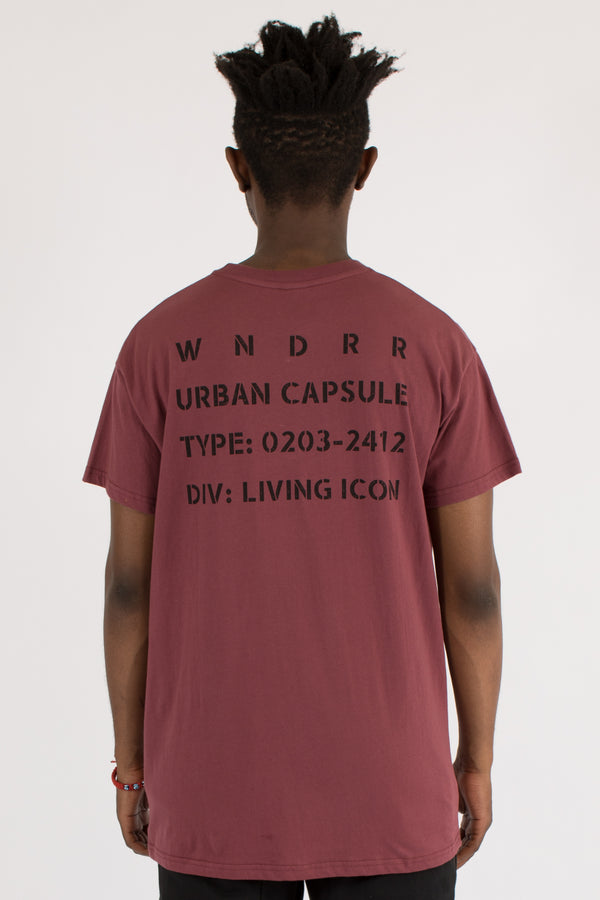ICON CUSTOM FIT TEE - BURGUNDY